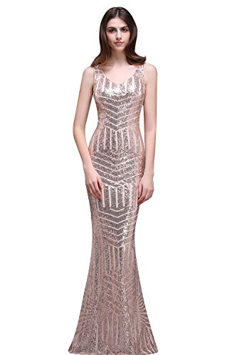 Misshow Sequins Geometric Stripes Evening Benefits