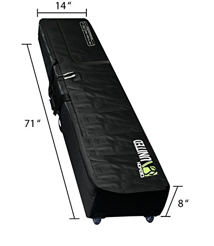 Demon United Snowboard Bag Padded with Wheels XXL Version- Perfect Snowboard Bag Wheeled for Air Travel- Extra Long, Extra Wide, Extra Deep Version - 2 Snowboard Bag with Full Padding Throughout Bag