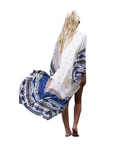 Women#039s Cover Ups for Swimwear Beach Kimono Coverups RoyalBlue M