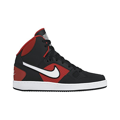 Nike Mens Son of Force Mid Basketball Shoes (8), BLACK UNIVERSITY RED WHITE, 41 unknown EU/7 unknown UK