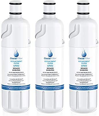 W10413645A EDR2RXD1 Water Filter Cap Replacement 469082 469903 9903 Water Filter Compatible with W10413645a water filter EDR2RXD1 Refrigerator Water Filter 2 Kenmore 9082 3-pcs