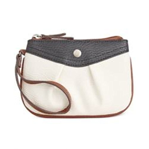 Style & Co. Womens Hannah Faux Leather Colorblock Wristlet Handbag B/W Small by Style & Co.
