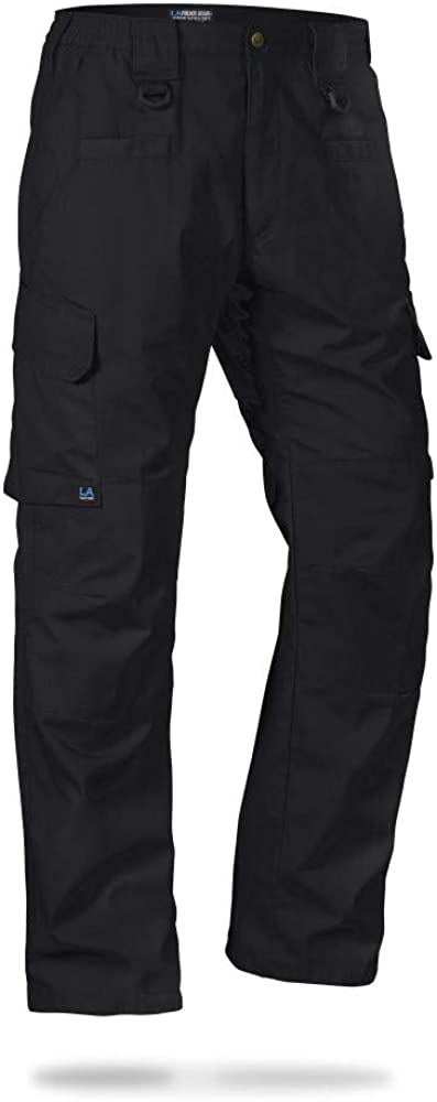 LA Police Gear Men's Water Resistant Operator Tactical Pant with Elastic Waistband: Clothing