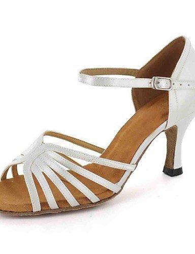 ShangYi Chaussures de danse ( Noir/Blanc ) - Personnalisable - Talons personnalisés - Similicuir - Danse latine , black-us6 / eu36 / uk4 / cn36 , black-us6 / eu36 / uk4 / cn36