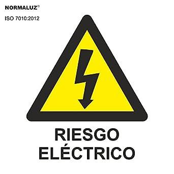 Normaluz RD39607 - Señal Adhesiva 10 Unidades Riesgo Eléctrico Rayo Adhesivo de Vinilo 5x5 cm