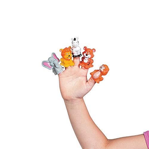 Fun Express - Safari Zoo Theme Finger Puppets (24 packs)