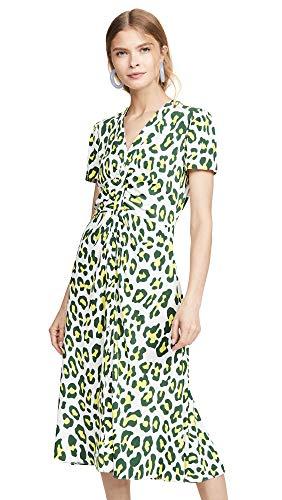 Diane von Furstenberg Women's Cecilia Dress, Summer Leopard Sulfur, Print, Yellow, X-Small from Diane von Furstenberg