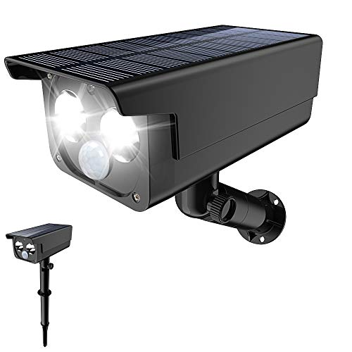 Solar Lights Outdoor, 2 LEDs & 3 Modes Solar Landscape Lights Waterproof 2-in-1 Wireless Outdoor Solar Security Lights 180° Adjustable Solar Motion Lights for Patio Deck Yard Garden Driveway Pool