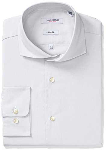 isaac-mizrahi-mens-slim-fit-solid-broadcloth-cut-away-collar-dress-shirt-white-155-neck-34-35-sleeve