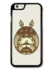 AMAF ? Accessories My Neighbour Totoro Hayao Miyazaki Brown Minimalist Illustration case for iPhone 6