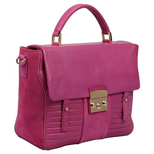 Pink Satchel Ri2k Genuine Kingsland Orchid Bag Leather 0q8T4fwx