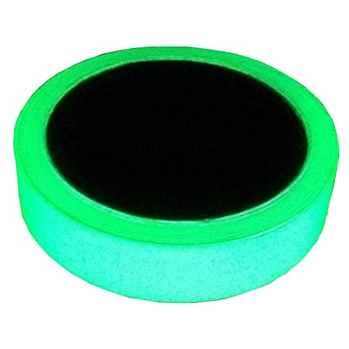 Glow in the Dark Green Luminous Tape Sticker 20 feet Length x 0.8 inch width: Removable, Waterproof, Photoluminescent