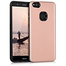 kwmobile Hybrid Case for Huawei P10 Lite in high gloss rose gold. TPU Inner-case, Hardcase shield! Perfect for outdoor usage of your smartphone and topmodern