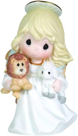 Precious Moments Angel Holding Lion and Lamb Figurine Peace On Earth
