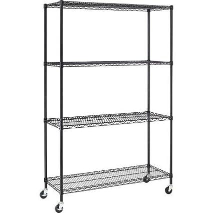 Shelf Liners For Wire Shelving | Amazon Com Hyper Tough 4 Shelf Commercial Grade Wire Shelving