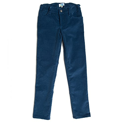 Evelyn Alex Big Girls Skinny Stretch Corduroy Pants Blue (14) (Corduroy Girls Pants)