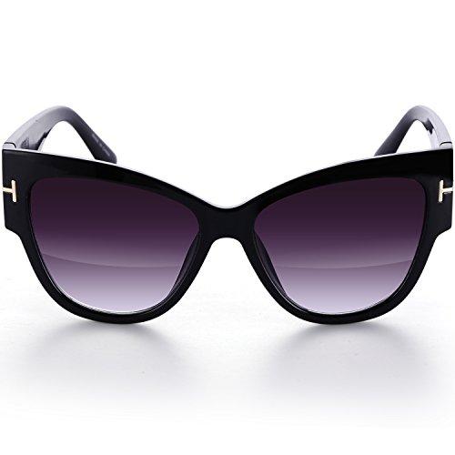 Menton Ezil 3 Pairs Anoushka Vintage CatEye Tortoise Thick Framed UV Round Sunglasses for - Glasses Cat Framed