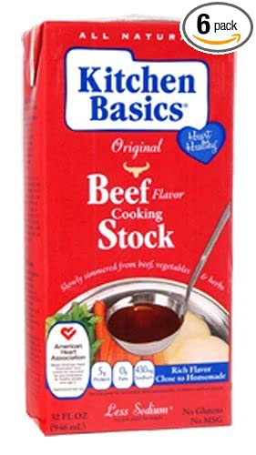 Amazon.com : Kitchen Basics Real Beef Stock, 32-Ounce (Pack of 6 ...