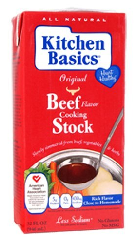 Kitchen Basics Real Beef Stock, 32-Ounce (Pack of ()