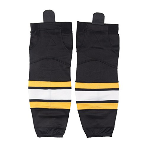 COLDINDOOR Hockey Socks Practice, Youth Kids School Player Cool Ice Hockey Socks Black S