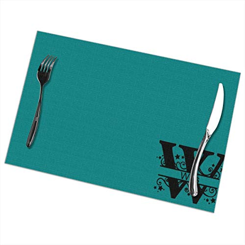 ShowRoom16 Custom Personalized Monogram Family Name Placemats