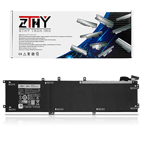 ZTHY High Capacity 84Wh 4GVGH Laptop Battery for Dell XPS 15 9550 Precision 15 5510 Mobile Workstation Series Notebook P56F 1P6KD T453X 0T453 062MJV M7R96 11.4V 6-Cell 7260mAh ()