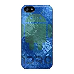Hot Fashion KhY18518DEEY Design Cases Covers For Iphone 5/5s Protective Cases (underwater Droid)