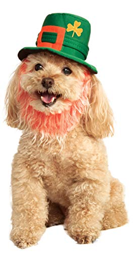 Rubie's St. Patty's Day Pet Costume Hat with Beard, Medium/Large, -
