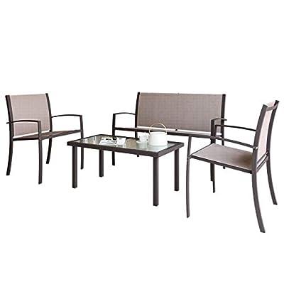 Patio Furniture Set 4 Seater, Indoor Outdoor