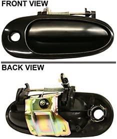 Door Handle Rear Outer Smooth Black Passenger Side Right for Buick Chevy Pontiac
