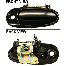 Pontiac Door Am Grand Front (PONTIAC GRAND AM 99-05 FRONT DOOR HANDLE RIGHT SIDE, OUTSIDE, Smooth Black)