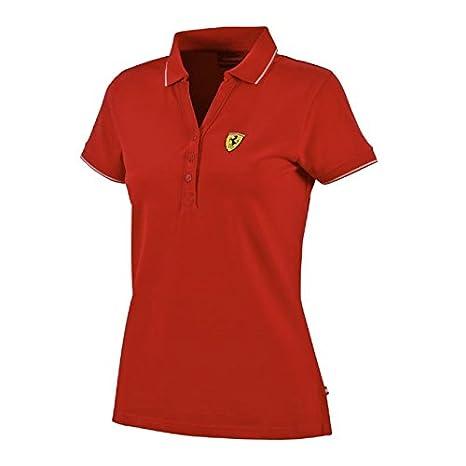 Ferrari rojo Ladies Polo clásico: Amazon.es: Deportes y aire libre