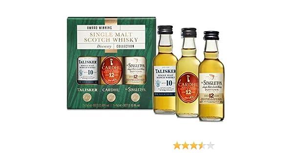 Estuche de regalo whisky escocés puro de malta: Talisker 10, Cardhu 12, Singleton 12 pack 3 botellas x 50 ml - 150 ml: Amazon.es: Alimentación y bebidas