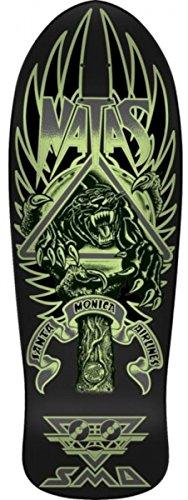 Santa Cruz Natas Panther 3 Glow Reissue Skateboard Deck Dark/Matte 10.538in x 30.14in