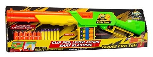 Buzz Bee Toys Air Warriors Rapid Fire Tek Clip Fed Blaster with Ejecting Shells by Buzz Bee