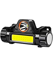 Hoofd Torch USB Oplaadbare LED Koplamp Super Heldere XPE/COB Lichtgewicht Waterdichte Helm Licht Geschikt voor Vissen Jacht Running Wandelen Camping
