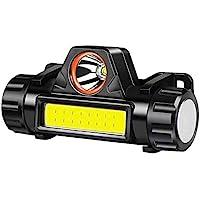 Hoofd Torch USB Oplaadbare LED Koplamp Super Heldere XPE/COB Lichtgewicht Waterdichte Helm Licht Geschikt voor Vissen…
