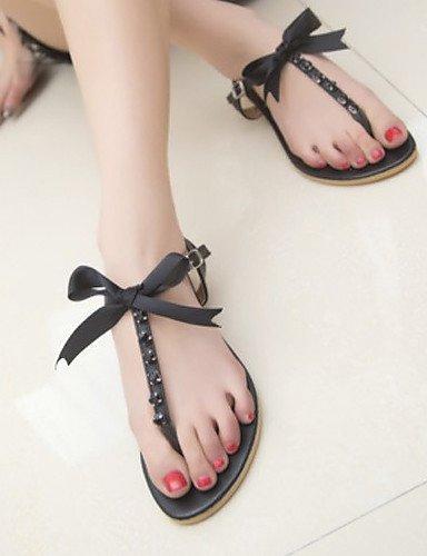ShangYi Women's Shoes Faux Leather Flat Heel Flip Flops Sandals Outdoor/Dress/Casual Black/Red/White , yellow-us6 / eu36 / uk4 / cn36 , yellow-us6 / eu36 / uk4 / cn36