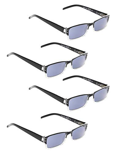 a9c7a8288949 READING GLASSES 4 pack Two-color frame Sunshine Readers (BlackClear New