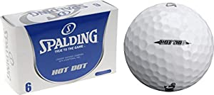 Spalding Golfbälle Hot Dot, Weiß, 6 Stück