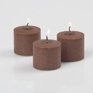 Dexon Power 72 Brown Votive Candles Cinnamon Bun Scented 56