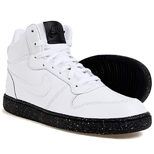Nike Men's Court Borough Mid SE Basketball Shoe, White/White-Black Size 12 D(M) US ()