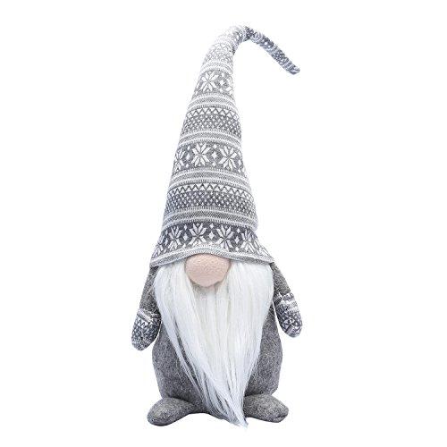 iGnome 19 Inches Handmade Christmas Gnome Decoration Swedish Figurines (Grey) (Decorations Holiday Handmade)