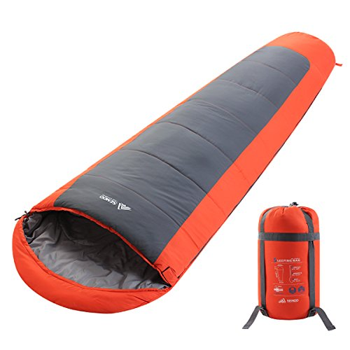 23f Mummy - SEMOO Mummy Backpacking Sleeping Bag,Lightweight Portable,Waterproof,Comfort for 3 Season Temp Rating 23F/-5C with a Compression Bag for Camping,Backpacking