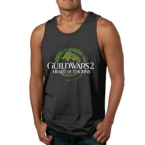 Kemeicle Men's Shirts Guild Wars 2 Heart of Thorns Gym Sport Muscle Sleeveless Tank Top L Black