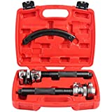 Shankly Spring Compressor Tool (2 Pieces) - Heavy Duty Build, Ultra Rugged Coil Spring Compressor, Strong and Durable Spring Compressor with Safety Guard and Carrying Case