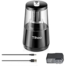 AIKOTOO Electric Pencil Sharpener, Heavy Duty Blades Durable Portable Quiet Pencil Sharpener Battery Operated Plug in with Cord Automatic Sharpens Colored Pencils for Kids, Pencil Sharpener Electric