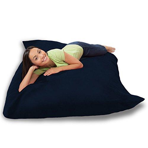 Comfy Sacks Huge Pillow Memory Foam Bean Bag Chair, Navy Micro Suede by Comfy Sacks