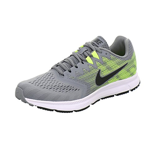 Pictures of NIKE Men's Air Zoom Span 2 908990 Grey/Black/Volt 1