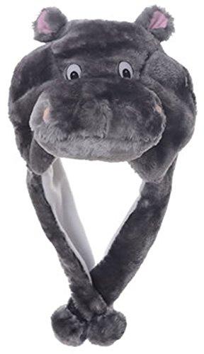 [Animal Head Super Soft Plush Childrens Hat - Hippo] (Hippo Costume For Toddler)